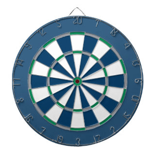 Colorful Dart Board in Seattle colors