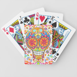 Colorful Day of the Dead Playing Cards