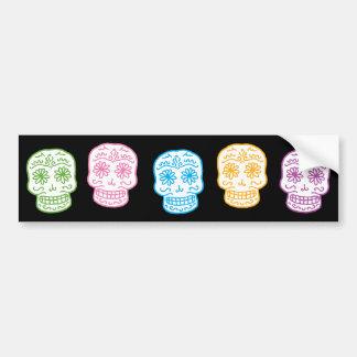 Colorful Day of the Dead Skulls Bumper Sticker