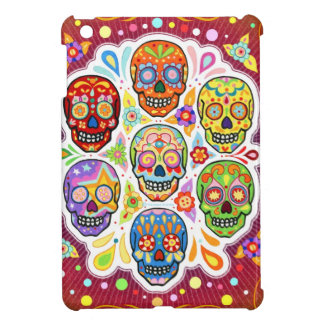 Colorful Day of the Dead Skulls iPad Mini Case