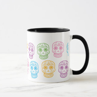 Colorful Day of the Dead Skulls Mug