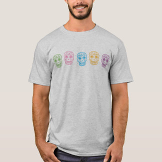 Colorful Day of the Dead Skulls T-Shirt