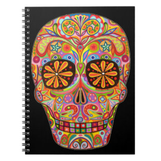 Colorful Day of the Dead Sugar Skull Notebook