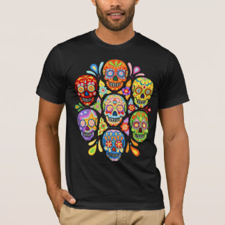 Colorful Day of the Dead Sugar Skulls Shirt