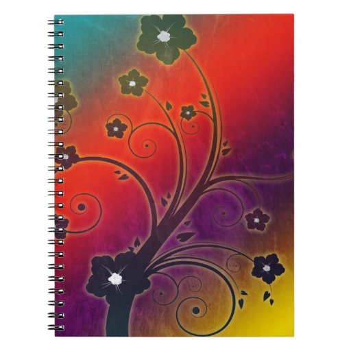 Colorful Decoration Spiral Note Books