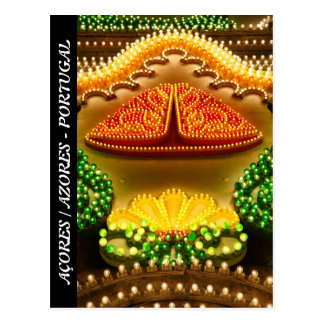 Colorful decorations postcard