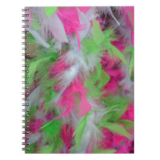 Colorful decorative feathers pattern note book