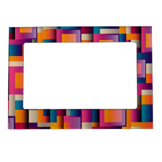 Colorful Decorative Square Design Magnetic Frame