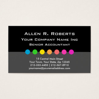 Colorful Decorator Modern Corporate Chic Business Card