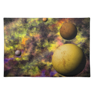 Colorful Deep Space Scene Place Mats