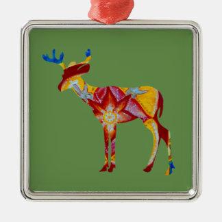 Colorful DeerPremium Square Ornament