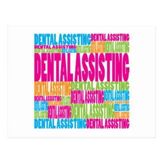 Colorful Dental Assisting Postcard