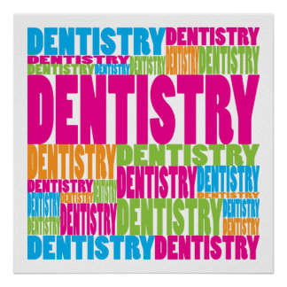 Colorful Dentistry Poster