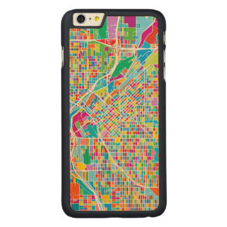 Colorful Denver Map Carved Maple iPhone 6 Plus Case