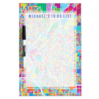 Colorful Denver Map Dry-Erase Board