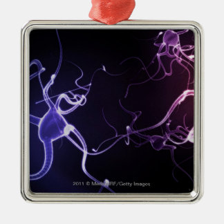 Colorful depiction of neurons christmas ornament