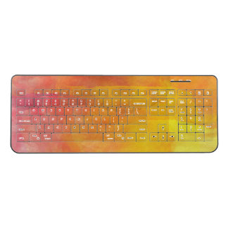 Colorful Desert Tone Watercolor Wireless Keyboard
