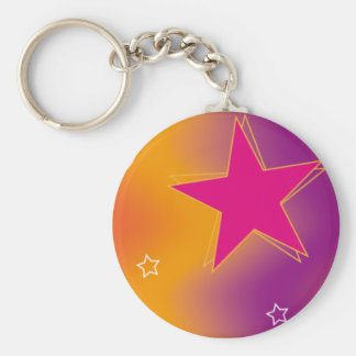 Colorful Design 03 Basic Round Button Key Ring