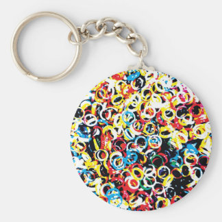Colorful design basic round button key ring