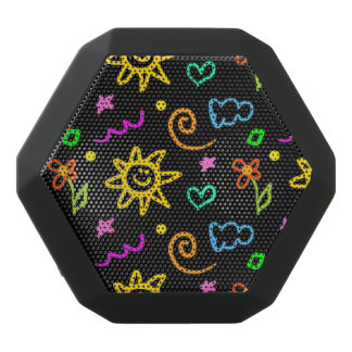 Colorful design of background for kids black bluetooth speaker