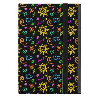 Colorful design of background for kids iPad mini cover