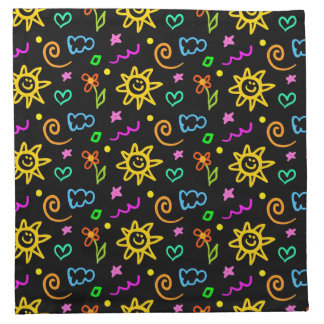 Colorful design of background for kids napkin