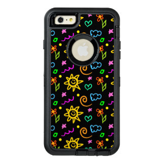 Colorful design of background for kids OtterBox defender iPhone case
