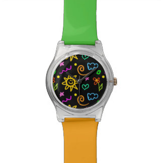 Colorful design of background for kids watch
