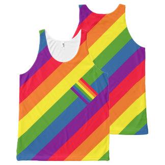 Colorful Diagonal Rainbow Flag Gay Pride All-Over Print Tank Top