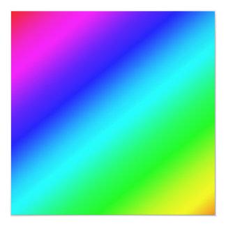 Colorful Diagonal Stripes  – 1 13 Cm X 13 Cm Square Invitation Card