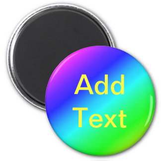 Colorful Diagonal Stripes – 1 6 Cm Round Magnet