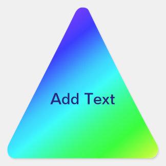 Colorful Diagonal Stripes – 1 Triangle Sticker