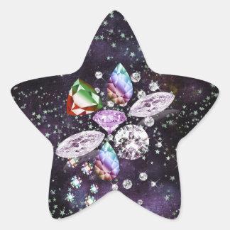Colorful Diamond Dreams Star Sticker