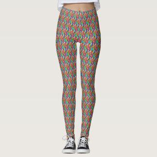 Colorful Diamond Gradient Leggings