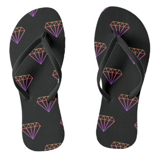 Colorful Diamond Pattern Flip Flops