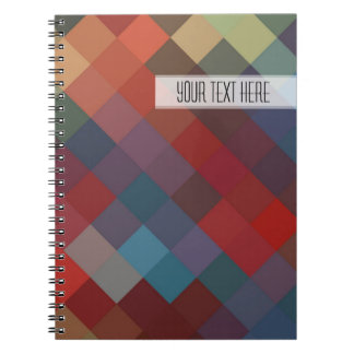 Colorful Diamond Seamless Pattern Note Book