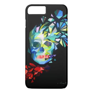 Colorful diamond skull with a bow iPhone 7 plus case