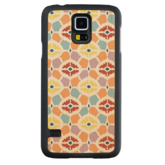 Colorful diamonds ikat geometric carved maple galaxy s5 case
