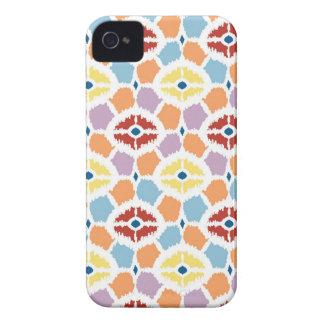 Colorful diamonds ikat geometric iPhone 4 cover