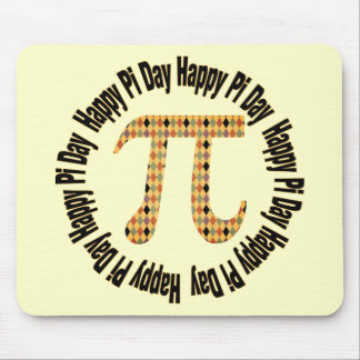 Colorful Diamonds Pi Day Gifts and Tees Mouse Pad