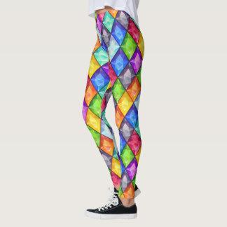 Colorful Diamonds Pop Fashion Leggings