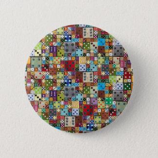 Colorful Dice 6 Cm Round Badge