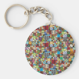 Colorful Dice Key Ring