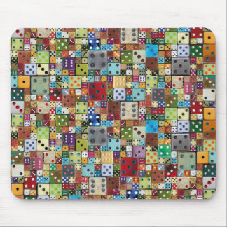 Colorful Dice Mouse Mat