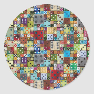 Colorful Dice Round Sticker