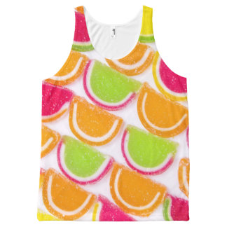 Colorful Different Jelly Candy All-Over Print Tank Top