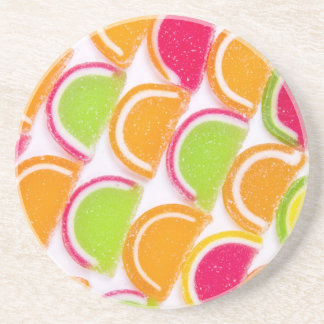 Colorful Different Jelly Candy Beverage Coaster