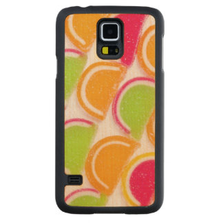 Colorful Different Jelly Candy Carved Maple Galaxy S5 Case