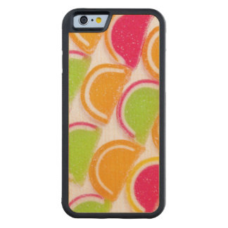 Colorful Different Jelly Candy Carved Maple iPhone 6 Bumper Case