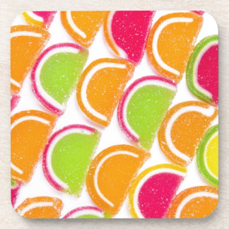 Colorful Different Jelly Candy Drink Coaster